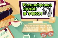 Расшифровка аудио- и видео файлов 22 - kwork.ru