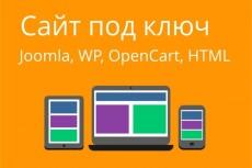 Сайт под ключ WP,html 7 - kwork.ru