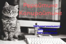 Гладкий рерайт текстов 20 - kwork.ru