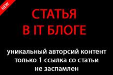 Напишу и размещу 2 статьи на двух сайтах женской тематики 25 - kwork.ru