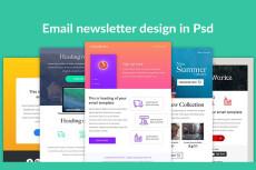 Разработка дизайна письма e-mail рассылки 9 - kwork.ru