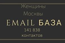 База email адресов женщин из Москвы и МО 9 - kwork.ru