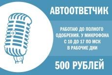 Озвучу текст, видео, автоответчик 5 - kwork.ru