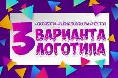 Профессиональный дизайн логотипов 65 - kwork.ru