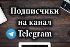 600 подписчиков на канал Телеграм. Живые исполнители 10 - kwork.ru