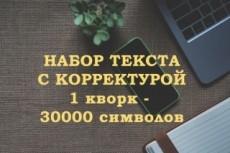 Набор, корректура текста 3 - kwork.ru
