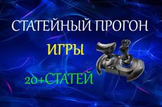 Эффективный статейный прогон по 160 сайтам + Бонус 17 - kwork.ru