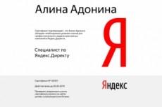 Новый Сертификат Яндекс Директ. Помощь в сдаче экзамена Яндекс Директ 7 - kwork.ru
