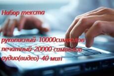 Расшифровка аудио и видео 13 - kwork.ru