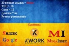 30 ручных ссылок в профилях сайтов с ТИЦ от 40 до 3000 5 - kwork.ru