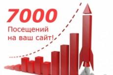 На 10 дней -Увеличу кол-во уникальных посетителей от 20 до 500 в сутки 25 - kwork.ru