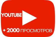 +2000 Просмотров в YouTube 16 - kwork.ru