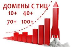 Найду 5 доменов с ТИЦ не менее 30 12 - kwork.ru