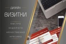 Дизайн визитки 33 - kwork.ru