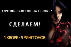 Сделаю рингтоны на телефон 5 - kwork.ru