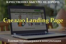Лендинг пейдж под ключ с настройкой форм и установкой на хостинг 12 - kwork.ru