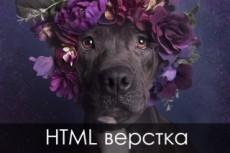 Верстка landing page из PSD шаблона 71 - kwork.ru