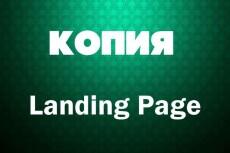 Сделаю копию Landing page, одностраничный сайт 61 - kwork.ru