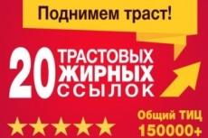 16 вечных жирных ссылок ТИЦ от 2500 общий более 155000 20 - kwork.ru