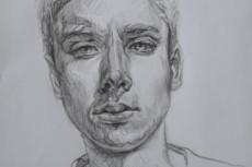 Напишу портрет карандашом, в электронном виде 8 - kwork.ru