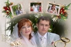 сделаю свадебный двд бокс и этикетку на диск 15 - kwork.ru