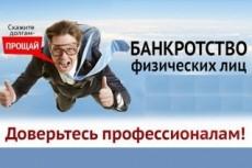 Составление заявления на банкротство физ. лица 6 - kwork.ru