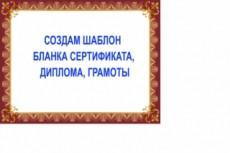 Нарисую диплом, сертификат, грамоту 10 - kwork.ru