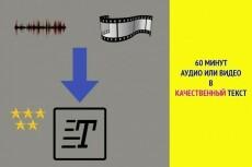 Транскрибация аудио и видео 19 - kwork.ru