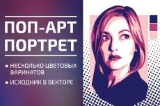 Нарисую поп-арт портрет 12 - kwork.ru