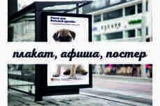 Дизайн плаката 12 - kwork.ru