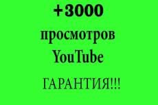 Добавлю 2000 просмотров в Youtube 4 - kwork.ru