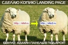 Скопировать лендинг, одностраничный сайт 50 - kwork.ru