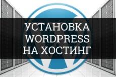 Установлю и настрою Wordpress на хостинг 7 - kwork.ru