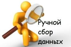 Соберу вручную информацию,данные 22 - kwork.ru