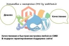Установка и настройка шаблона на CMS 3 - kwork.ru