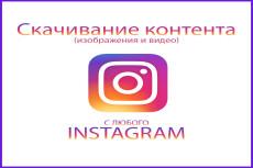 Скачаем фото и видео из любого Instagram аккаунта 18 - kwork.ru