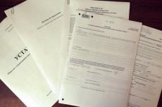 Устав, решение, учредительный договор, заявление на регистрацию юр. лица 17 - kwork.ru