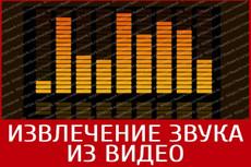 Обработка аудио, импорт звуковой дорожки из видео 7 - kwork.ru