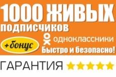 Одноклассники 900 живых подписчиков в группу 22 - kwork.ru