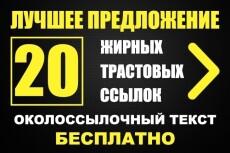 Недорогой статейный прогон 6 - kwork.ru
