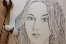 Портрет карандашом 16 - kwork.ru