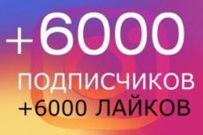 Акция +5500 подписчиков на instagram + 3000 лайков 15 - kwork.ru