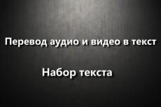 Переведу аудио/видео в текст, перепечатаю текст с фотографии 16 - kwork.ru