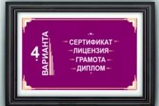 Нарисую диплом, сертификат, грамоту 12 - kwork.ru