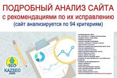 Качественный аудит сайта с рекомендациями 13 - kwork.ru