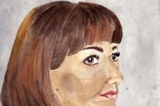 Нарисую ваш портрет акварелью 13 - kwork.ru