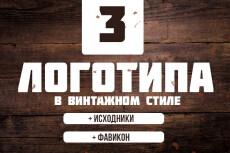 Женский винтажный логотип 13 - kwork.ru