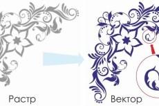 Перерисую растровую картинку в вектор 48 - kwork.ru
