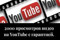 2000 просмотров видео с удержанием на YouTube 21 - kwork.ru