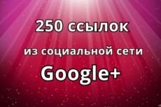 111 ссылок из социальной сети Google+ 14 - kwork.ru
